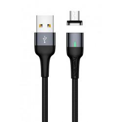 POWERTECH Καλώδιο USB 2.0 σε Micro PT-750, μαγνητικό, 1m, μαύρο