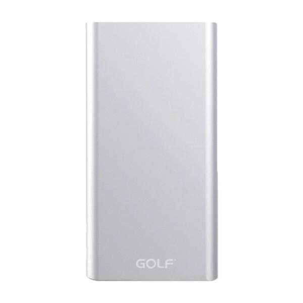 GOLF Power Bank Edge 5 5000mAh, Ultra-thin, 1x USB, Micro - 8pin, Silver