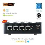 Intel® E3845 4 LAN 1 COM AES-NI 4G Fanless Firewall Router