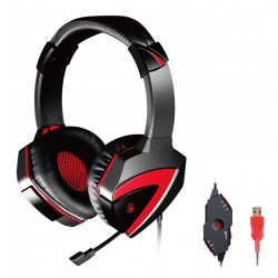 BLOODY Gaming Headset BLD-G501, 7.1CH, 40mm, USB, 100dB, μαύρα