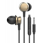 UIISII Earphones Metal HM9-GD, 3.5mm, 10mm, 102dB, 1.2m, χρυσά