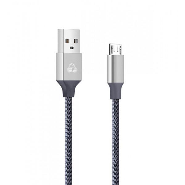 POWERTECH Καλώδιο USB σε Micro USB eco small PTR-0046 copper, 1m, ασημί